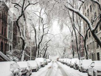Cars winter scene