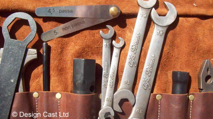 Classic car tool kit for a 31-34 Alfa 8c 2300